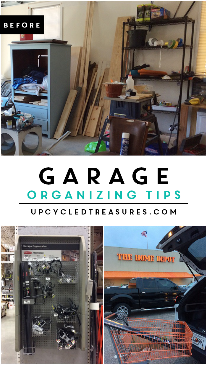 Is your garage a disaster? I know ours was, check out this great garage organization system, you will not be disappointed! upcycledtreasures.com