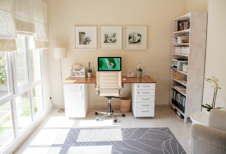 DIY Desk from Kitchen Cabinets | House of Hawkes