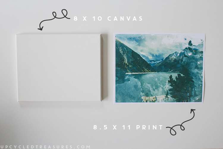 How to turn photo print into wall art. | MountainModernLife.com