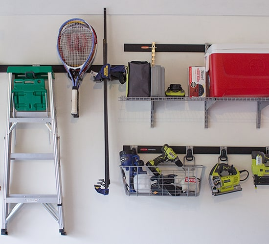 organized garage ideas using rubbermaid fasttrack mountainmodernlife.com