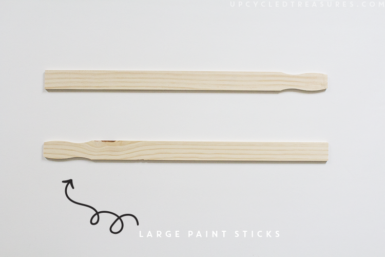 using paint sticks to frame art. | MountainModernLife.com