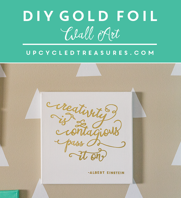 picture regarding Silhouette Printable Gold Foil identify Inspiring Do-it-yourself Gold Foil Wall Artwork