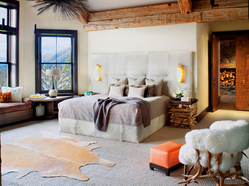 Modern rustic bedroom retreats for Mountain modern bedroom