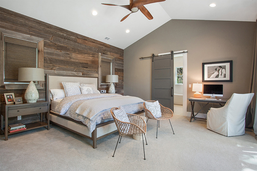 20 modern rustic bedroom retreats upcycledtreasurescom - Contemporary Bed Rooms
