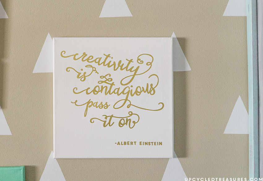 image relating to Printable Gold Foil named Inspiring Do-it-yourself Gold Foil Wall Artwork
