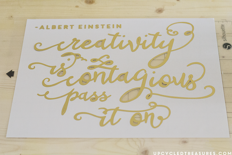 image relating to Silhouette Printable Gold Foil known as Inspiring Do-it-yourself Gold Foil Wall Artwork