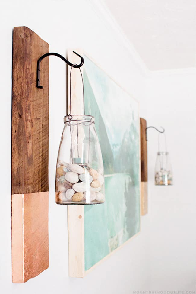 Rustic Modern Wall Hanging | Salvaged Wood Decorating Ideas