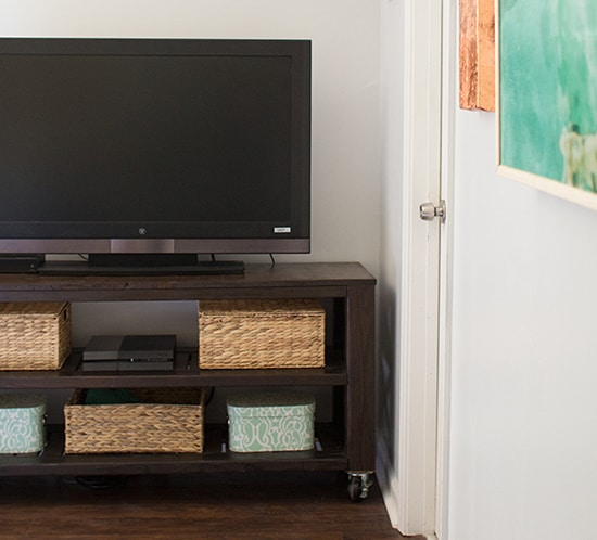 diy rustic tv stand for modern rustic bedroom mountainmodernlife.com