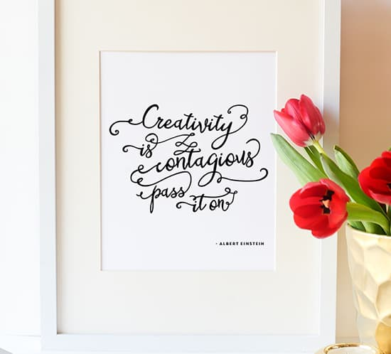 free printable creativity is contagious pass it on mountainmodernlife