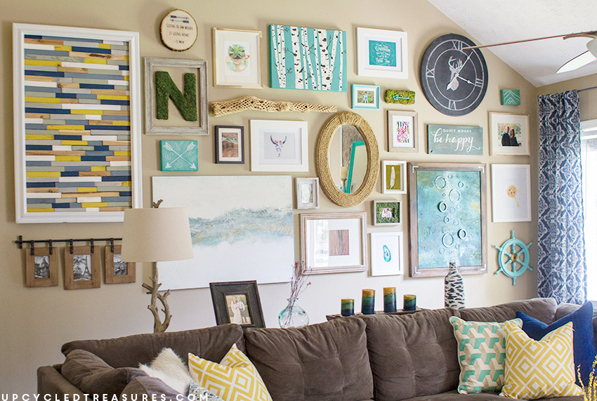 gallery-wall-filled-with-DIY-projects-upcycledtreasures.png