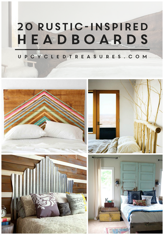 20 Rustic Inspired Headboards collage | MountainModernLife.com