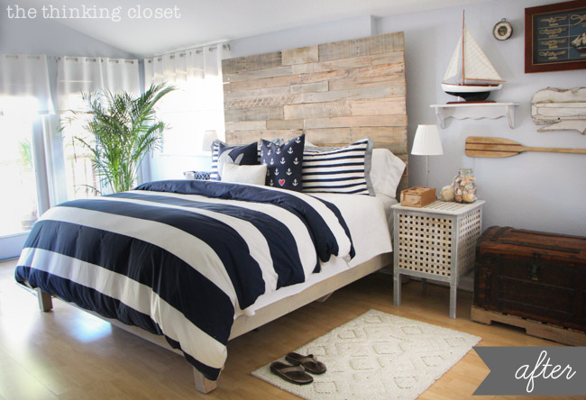 Rustic Bedroom Makeover from The Thinking Closet
