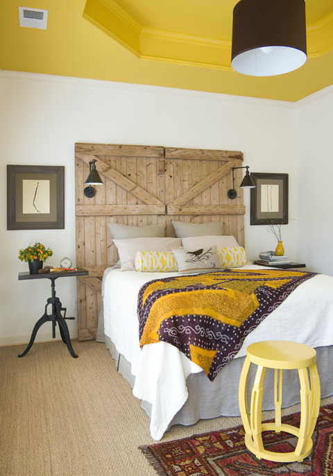 Sherry Hart Rustic Headboard and Bedroom Inspiration