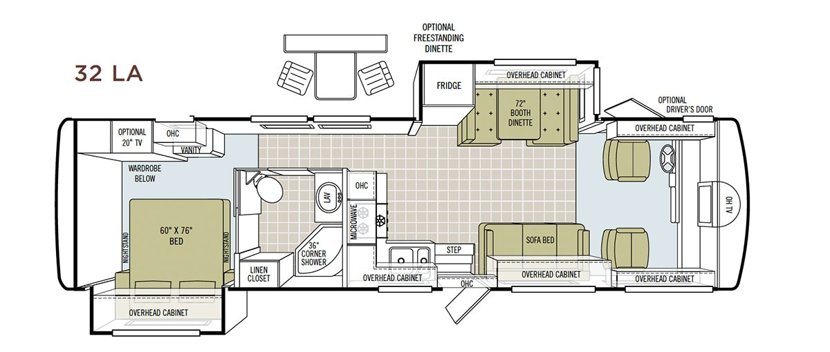 Motorhome floorplan before makeover Tiffin Openroad. | MountainModernLife.com