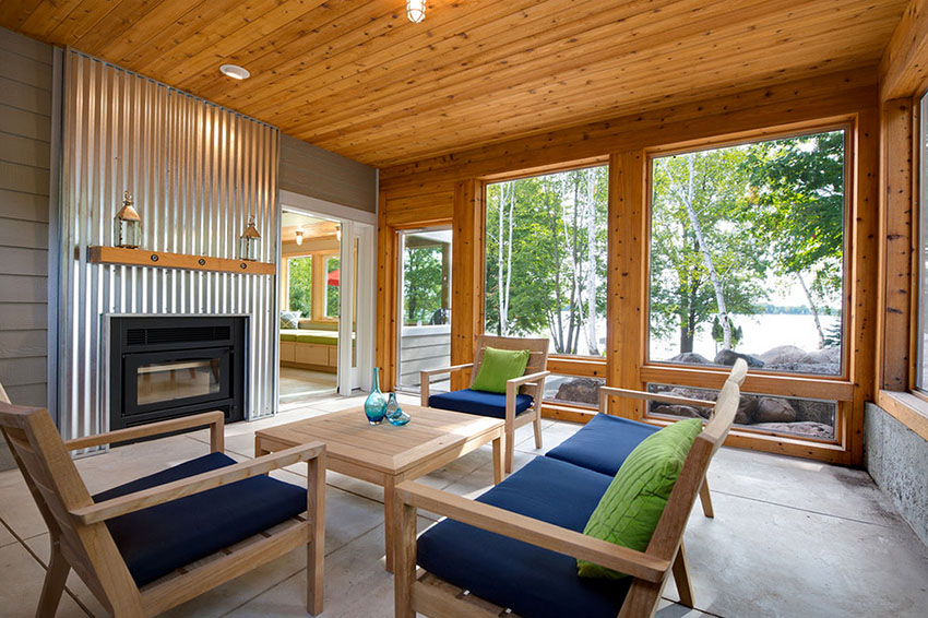 Corrugated Metal Fireplace | Radiant Creative Homes