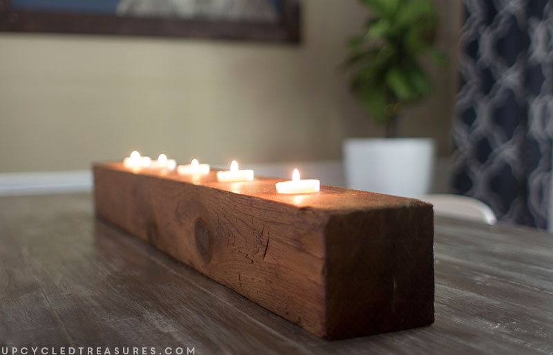 Diy Rustic Tea Light Candle Holder Mountain Modern Life