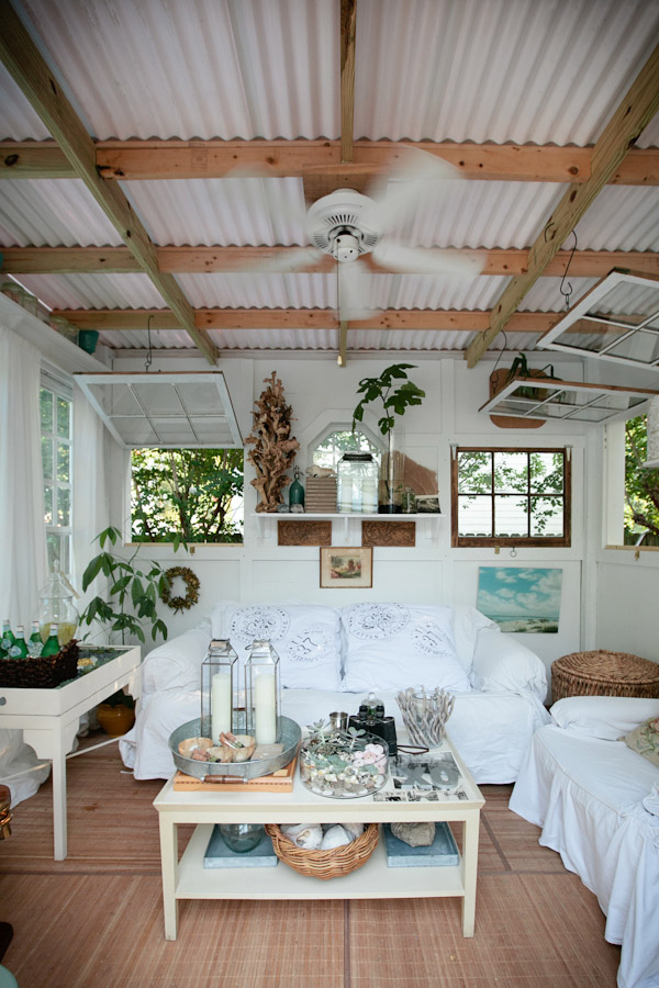 Backyard Bungalow with Corrugated Metal Roof | Kim Fisher Designs