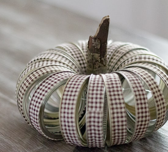 diy fabric tape mason jar lid pumpkin mountainmodernlife.com