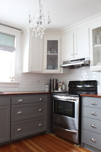 Help us decide what color to paint the RV kitchen cabinets before we hit the road in search of the perfect small town to call home. | MountainModernLife.com