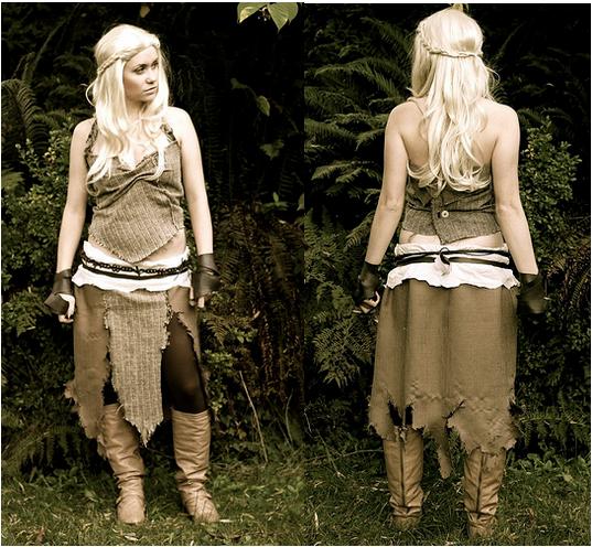 Handmade halloween costume ideas for Daenerys targaryen costume tutorial