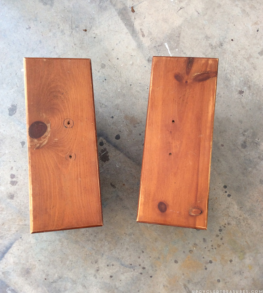 Picture of two of the nightstand drawers by themselves before being painted. MountainModernLife.com