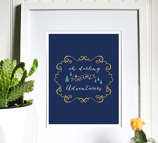 free printable oh darling lets be adventurers mountainmodernlife.com