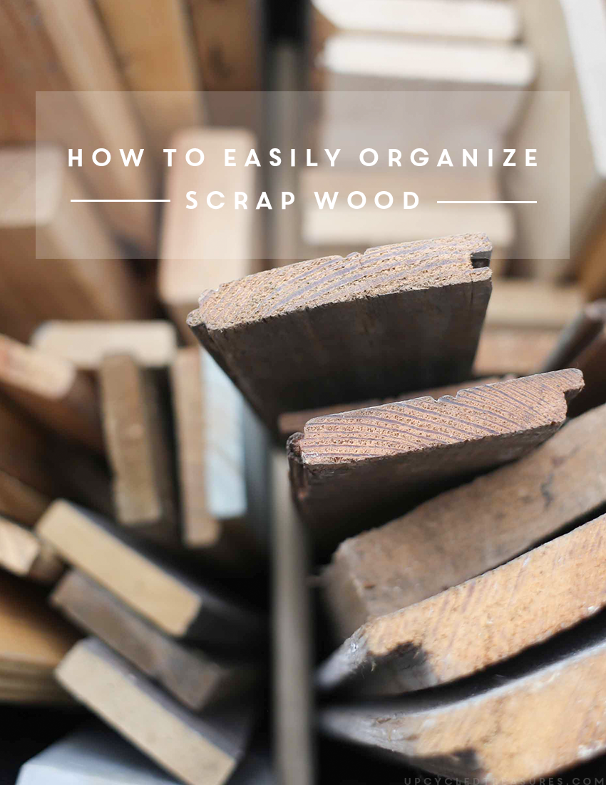 How to easily organize scrap wood title image. MountainModernLife.com