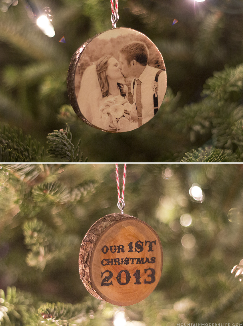 Create christmas ornament - See How Easy It Is To Create These Photo Christmas Ornaments From Wood Slices Mountainmodernlife