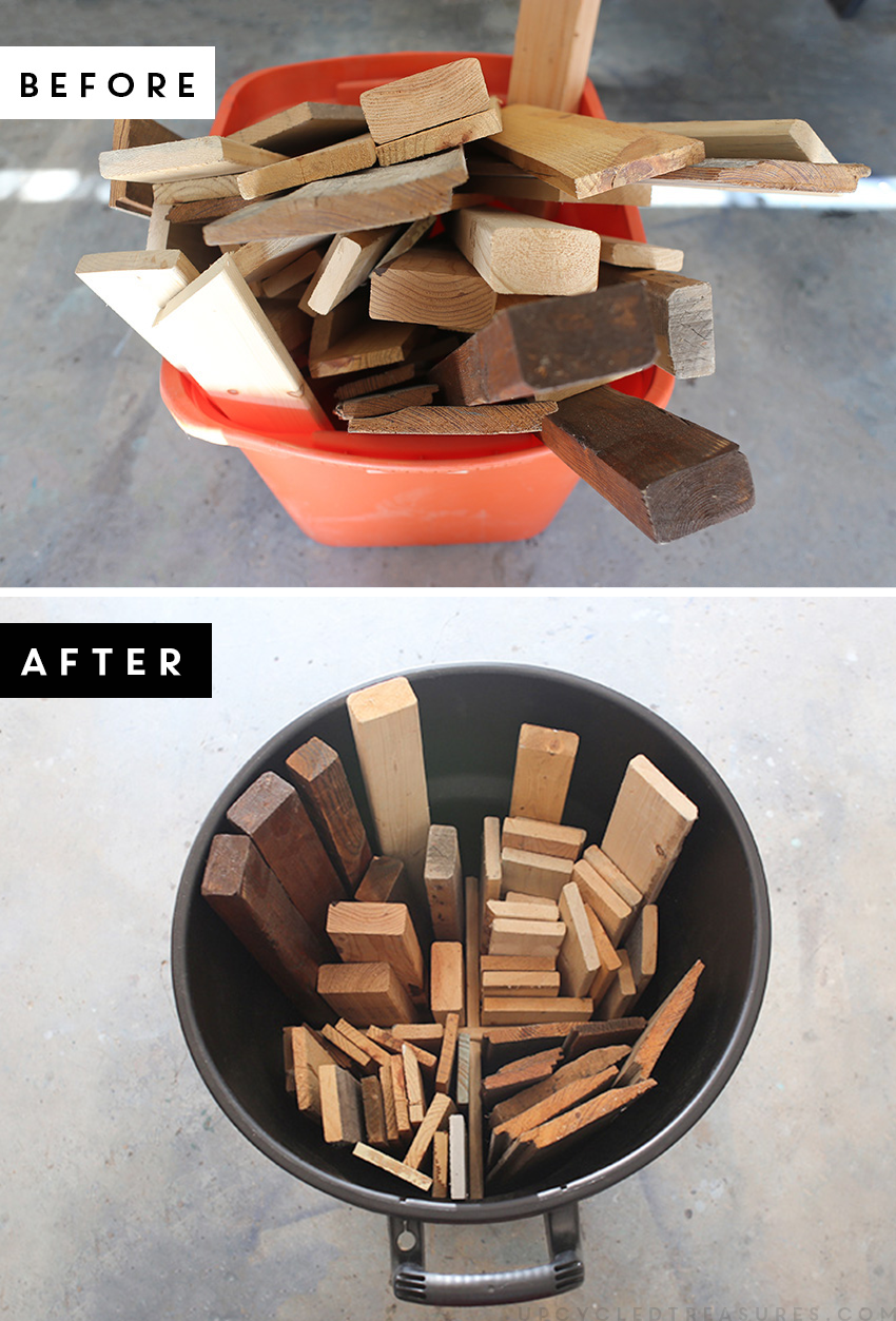 Two options to organize scrap wood. MountainModernLife.com