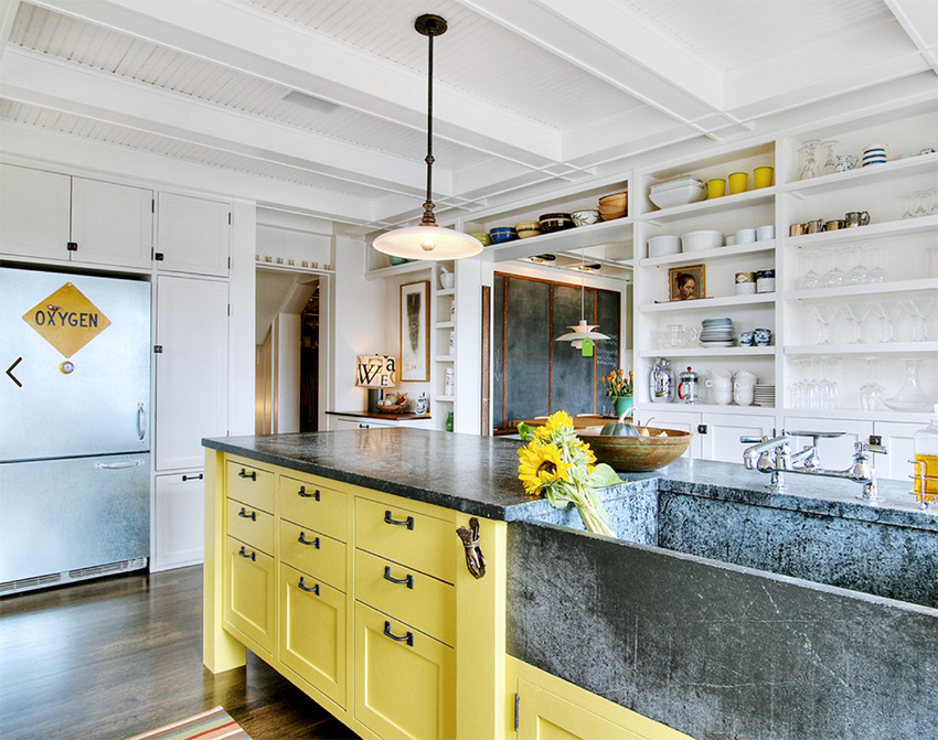 Stunning kitchen designs with two toned cabinets for Kitchen designs houzz