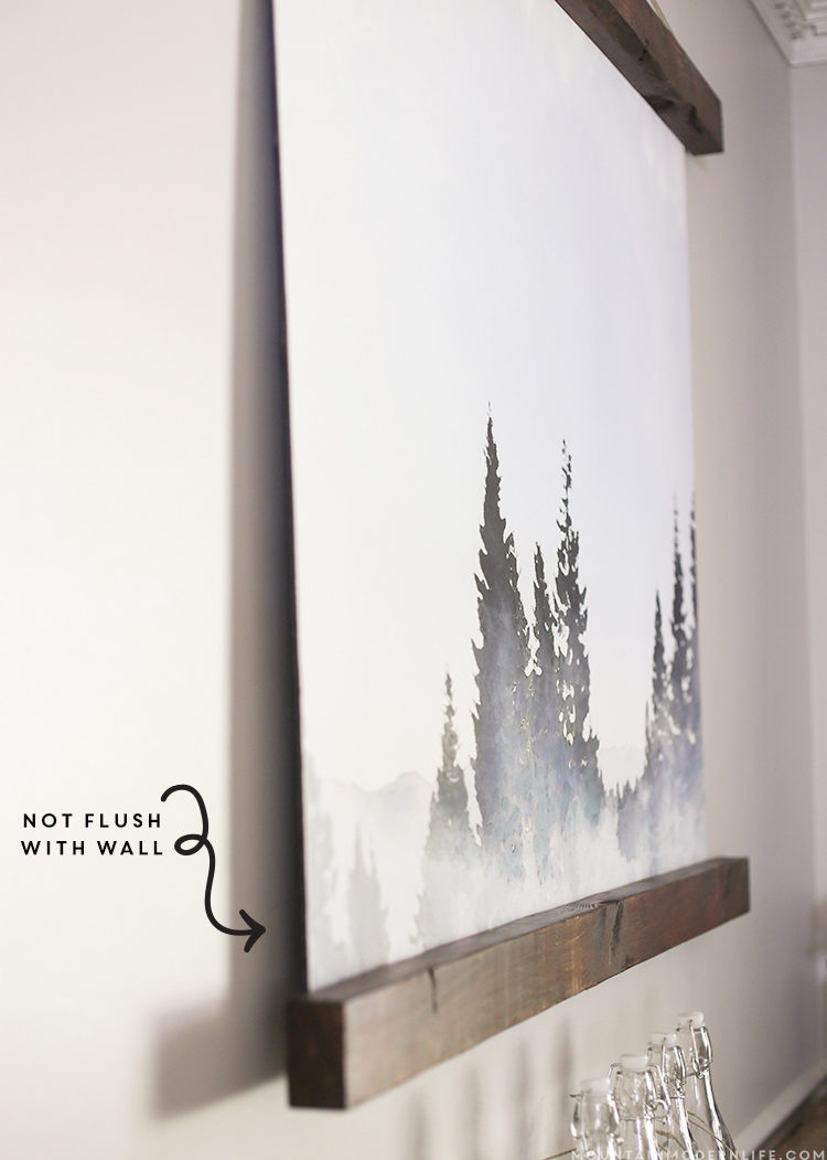 See how easy it was to turn this watercolor Lake Tahoe image into a large wall hanging from an engineering print! mountainmodernlife.com