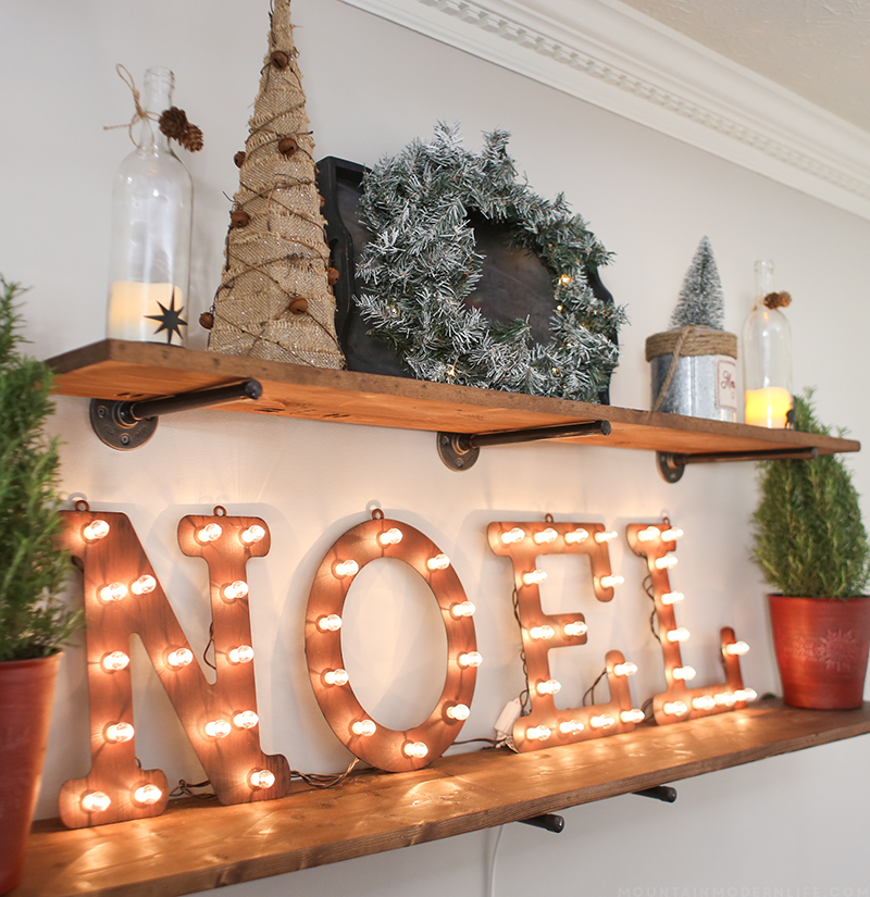 Come see how we created a cozy vibe for the holidays with our dining room Christmas decor! MountainModernLife.com