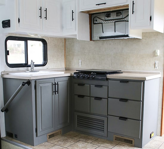 rv kitchen cabinets mountain modern