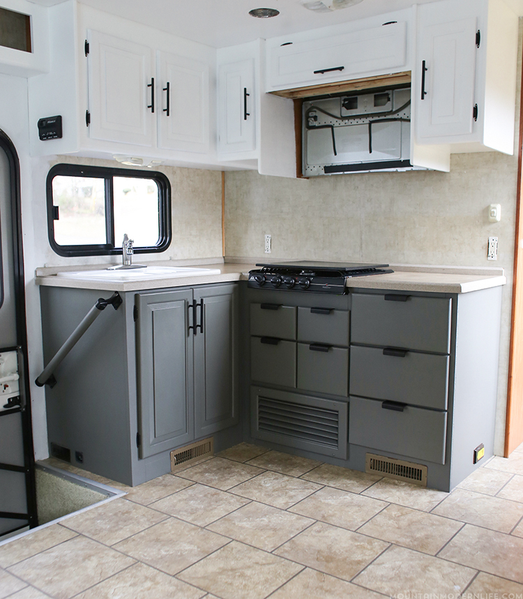 Painting rv cabinets for Our life in the kitchen