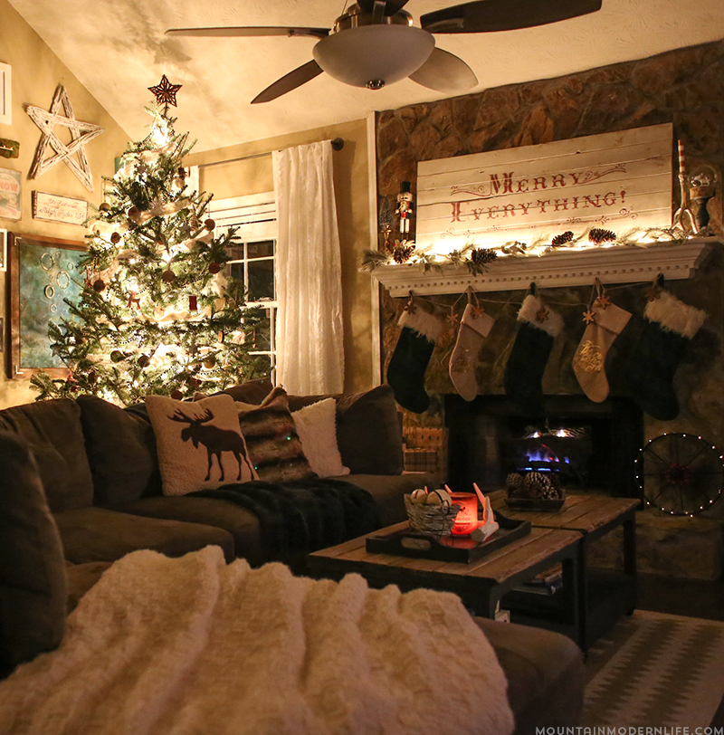 Cozy christmas home decor mountain modern life
