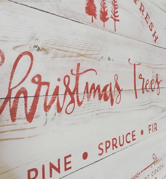 Custom Wood Christmas Tree Farm