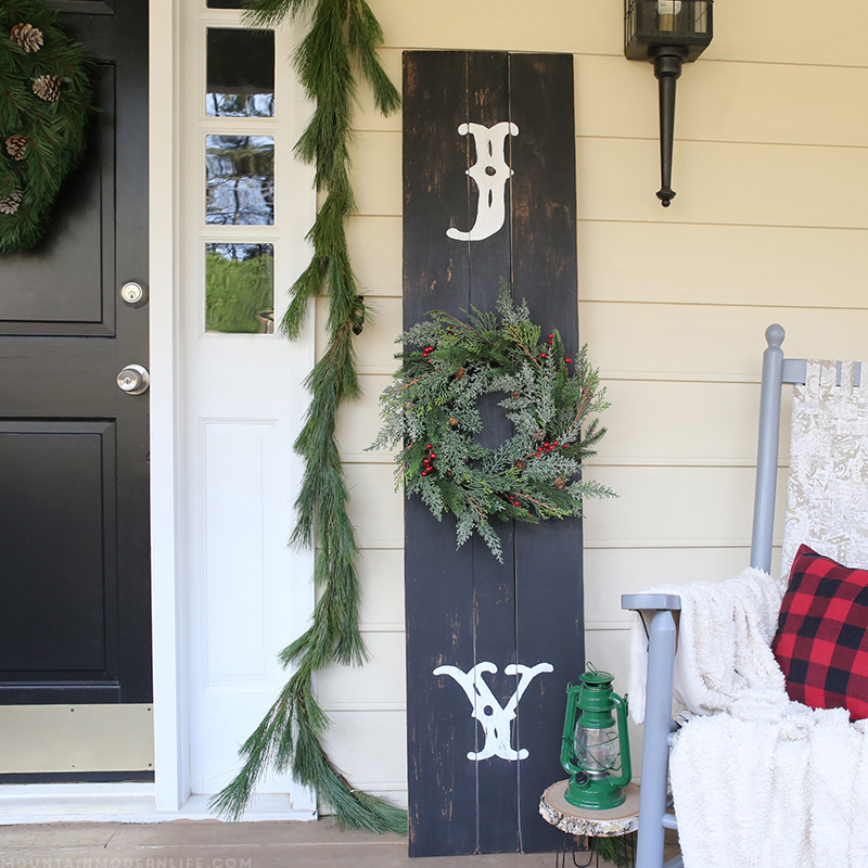 Rustic Front Porch Christmas Sign Mountain Modern Life