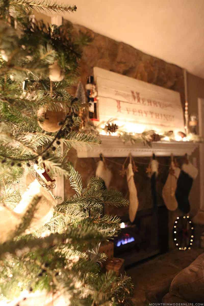 Merry Everything Christmas Sign | MountainModernLife.com