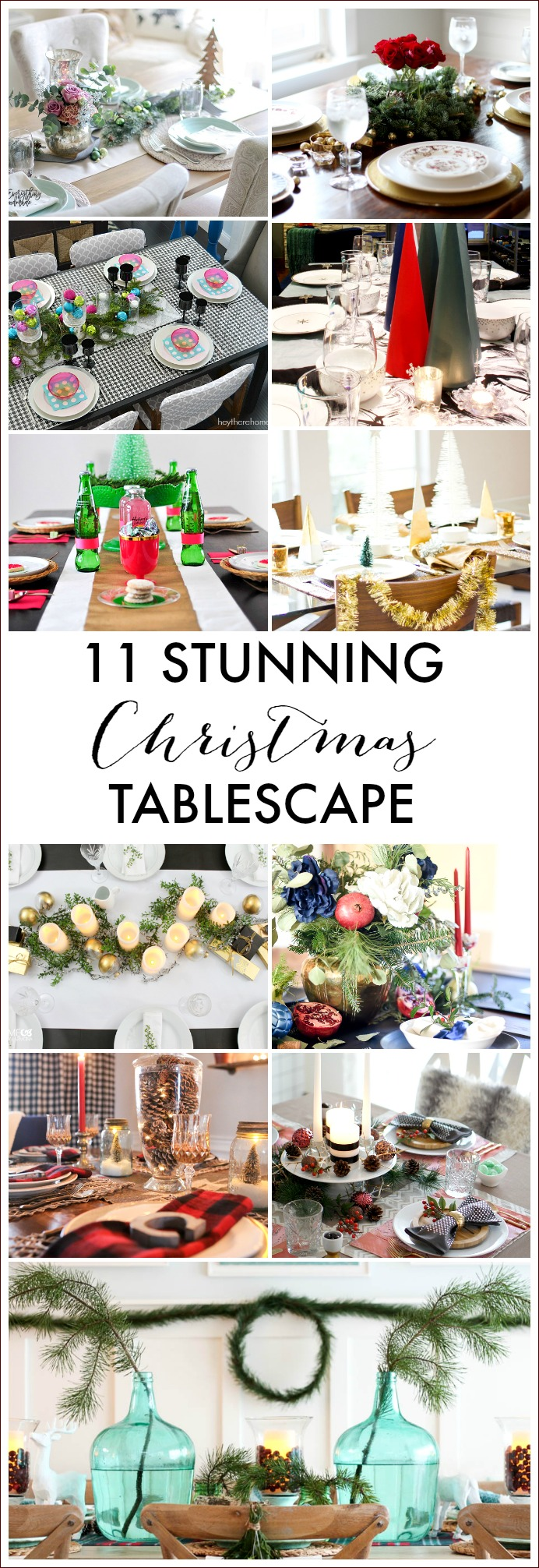 Check out these 11 Stunning Christmas Tablescapes to inspire your holiday table decor.