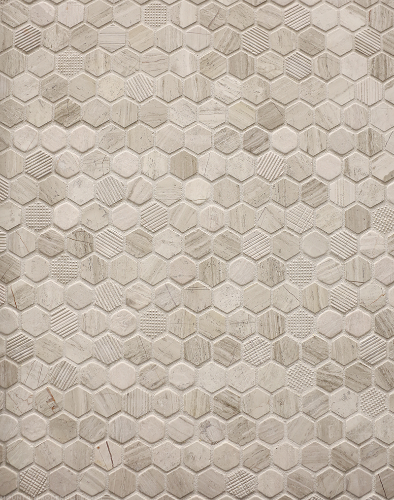 Valentino White Mix Marble Mosaic from Floor & Decor