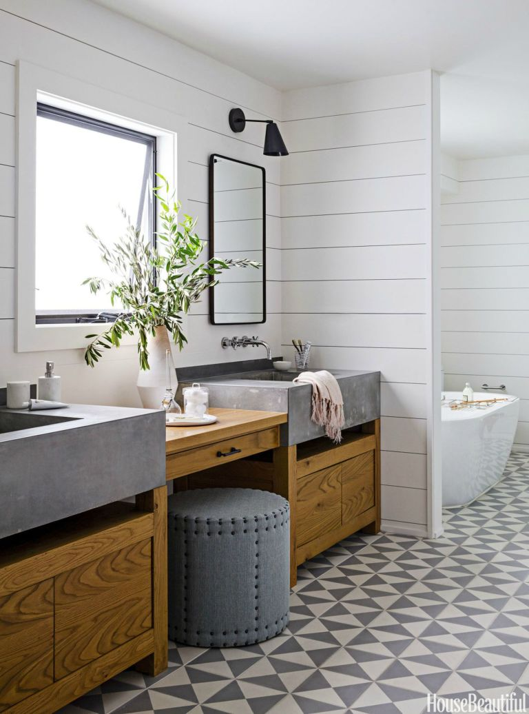 Modern rustic bathroom design - Rustic Modern Bathroom Designs Zen Bathroom Via House Beautiful