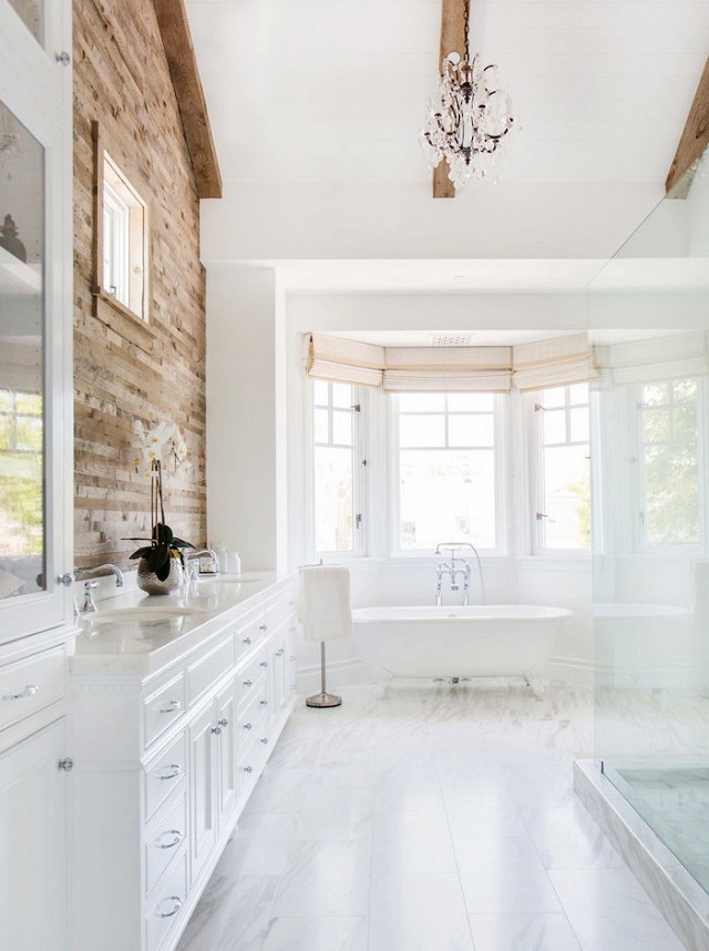 Rustic Modern Bathroom Designs | Newport Beach House via MyDomain