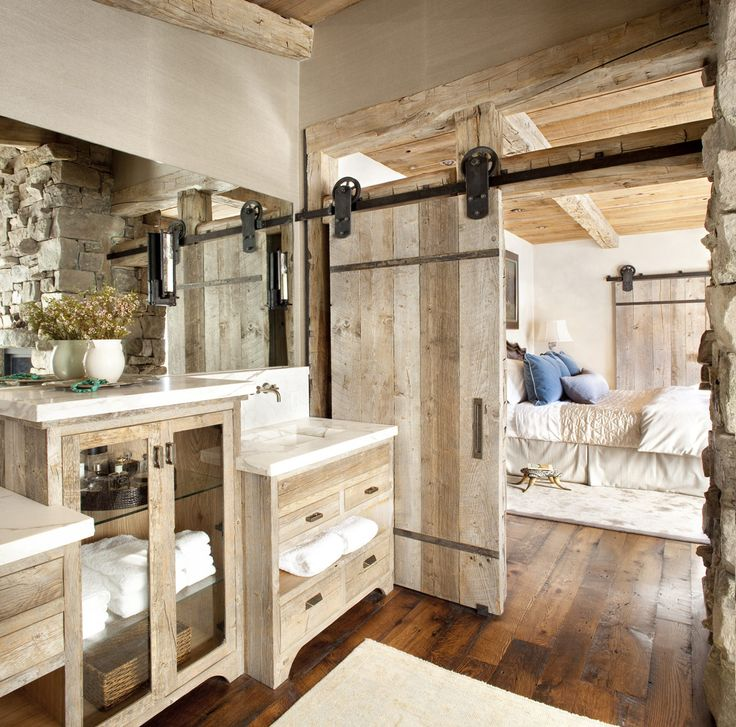 Rustic Modern Bathroom Designs | High Times Home via Peace Design