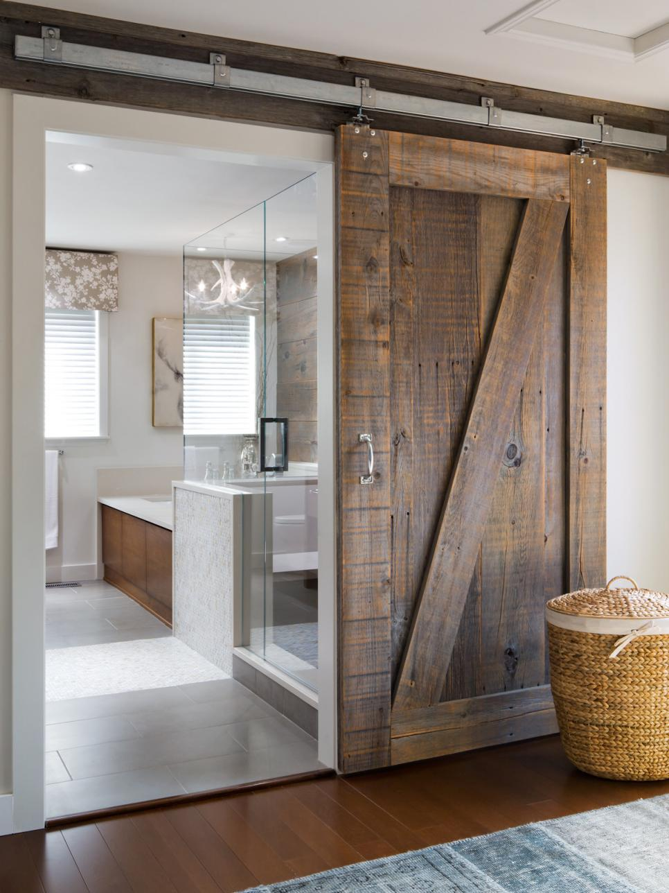 Rustic Sliding Barn Door for Bathroom | HGTV
