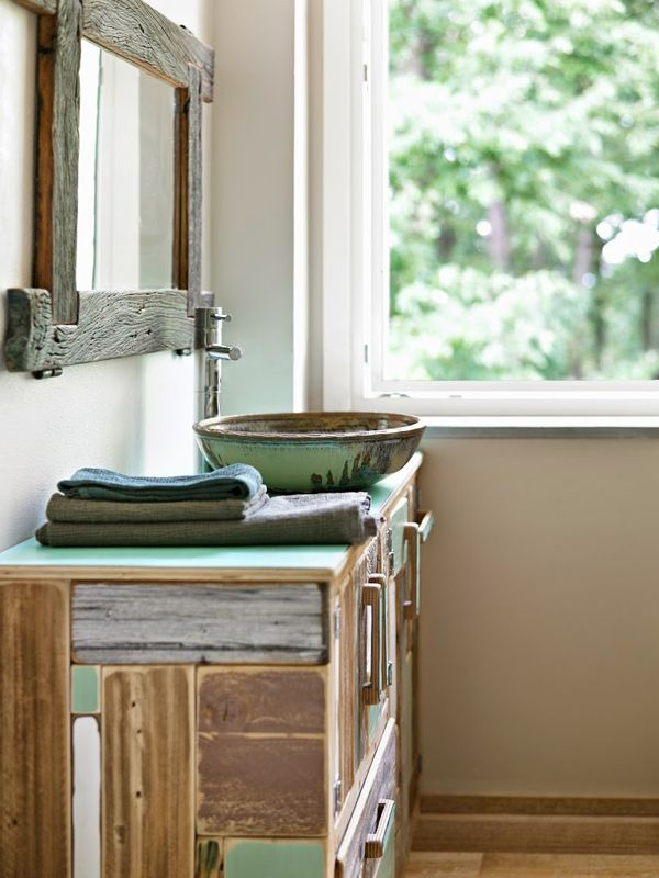 Rustic Modern Bathroom Designs | Eco-Friendly B&B in Italy via The Style Files