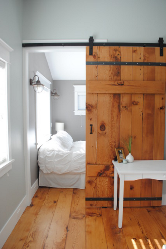 Sliding barn door designs for Bedroom closet barn doors