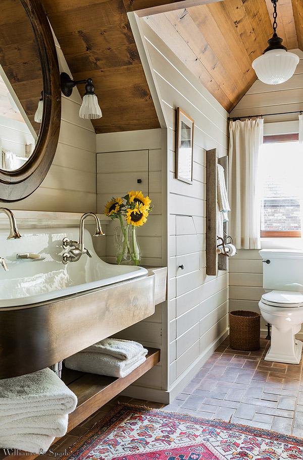 Rustic Modern Bathroom Designs | Newton Residence via Williams & Spade