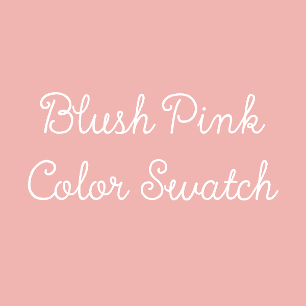 Blush Pink Color Swatch