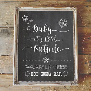 Hot Cocoa Bar Printable - Vintage Chalkboard Background