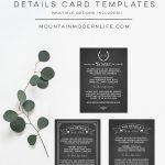 Chalkboard Printable Details Card Templates | MountainModernLife.com